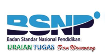 Tugas Badan Standar Nasional Pendidikan (BSNP)