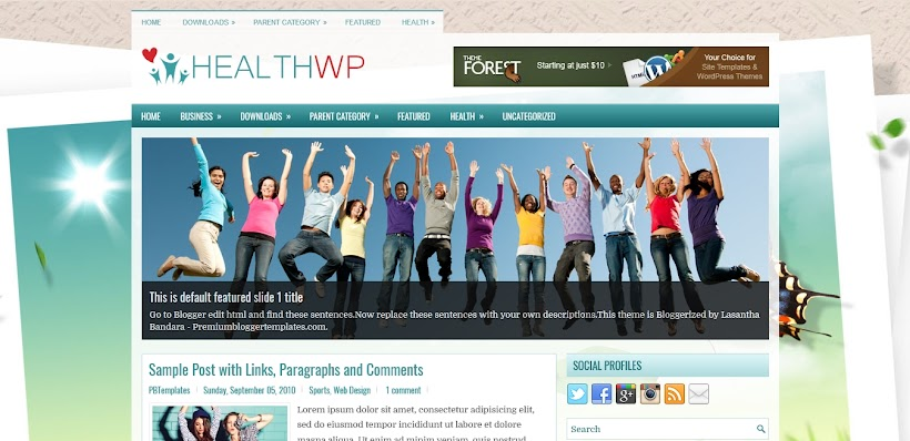 HealthWp Free Blogger Template
