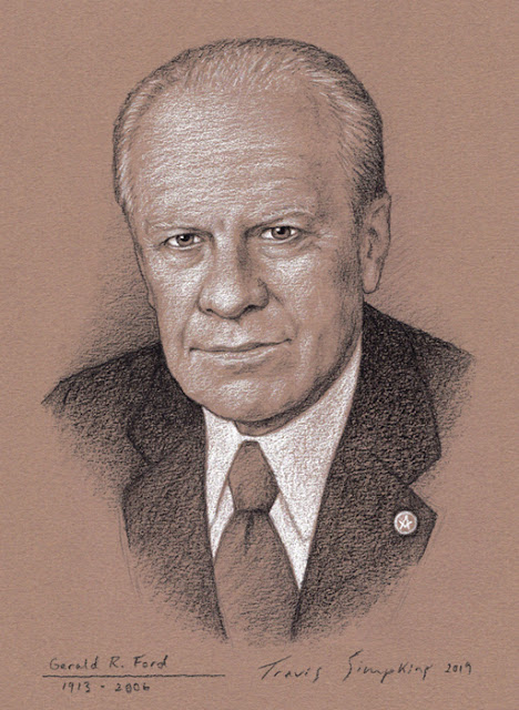 Gerald R. Ford, 33°. 38th President of the United States. Freemason. by Travis Simpkins