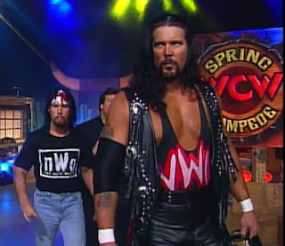 WCW Spring Stampede 1997 - Kevin Nash (w/ Syxx)