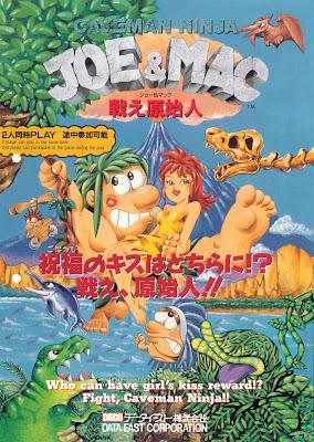 Joe & Mac return Tatakae Genshiji+arcade+game+portable+flyer+art