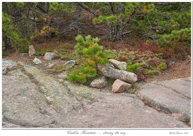 Cadillac Mountain: ... showing the way...