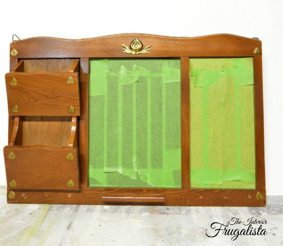 Upcycled Thrift Store Mail Sorter BEFORE