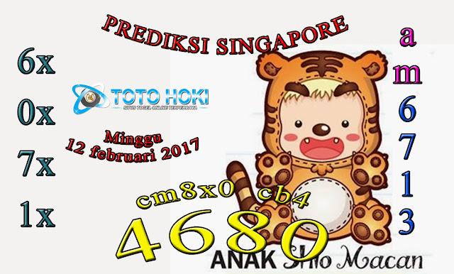 PREDIKSI SGP BOCORAN SINGAPORE HARI MINGGU 12 FEBUARI 2017