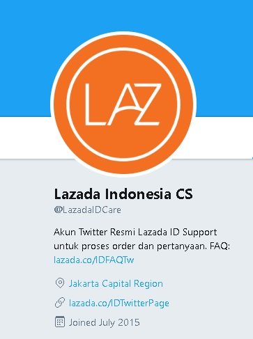 Akun Twitter Lazada