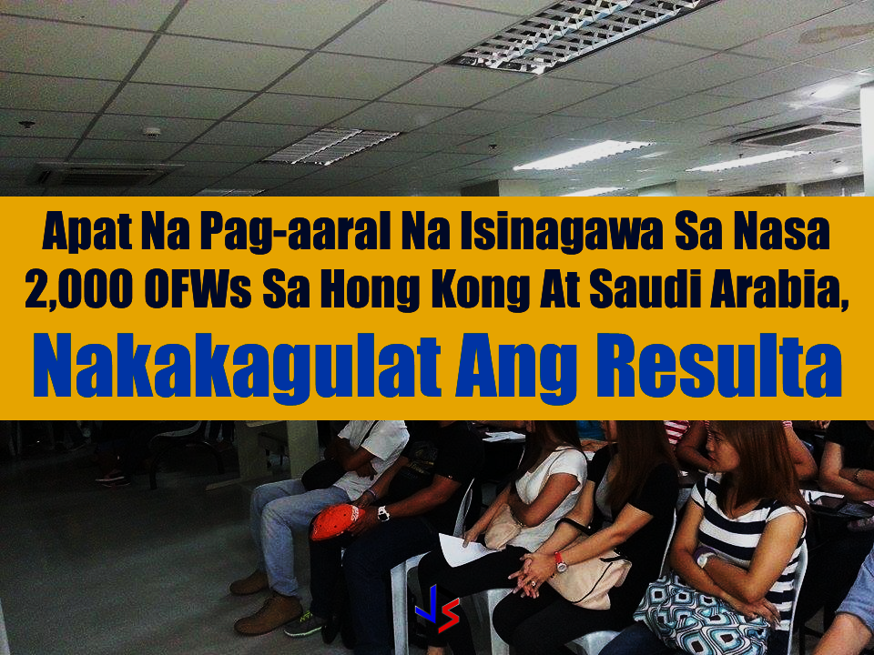 "group of agencies from the Philippine government and Non-government organizations (NGO's) has conducted a study and they got surprising results. From 2014 to 2017 a research team from the Overseas Workers Welfare Administration (OWWA) and Asian Institute of Management (AIM) followed 2,000 first-time Filipino household service  workers (HSWs) who went to work in Hong Kong and Saudi Arabia, and their families back home.   The Pre-Departure Orientation Seminar (PDOs) has to be taken by every Overseas Filipino Workers (OFW) before they could finally leave the country and work abroad. The study's objective was to test the impact of new modules for the PDOS and  to acquire insights on how domestic workers and their families adjust to having an OFW family member. Sponsored Links   Running since 1983,the PDOS program is being facilitated by OWWA and the Philippine Overseas Employment Administration, this marks the first time that OWWA collaborated with an academic institution to do a long-term evidence-based impact evaluation of the program.  For AIM, on the other hand, the research is in line with its focus on business and society, and the study was an opportunity to bring theories and rigorous statistical techniques to a sector that is very important for the country, namely the OFWs.   OWWA and AIM research team experimented with 4 new twists on the basic modules of PDOS .   —The first was a new financial literacy module using a comic-book format to teach four basic simple messages that are critical to savings.  —The second experiment was to send savings reminders every 15 days to the OFWs,   —The third was using the experience directly from ""ex-abroads"" in setting expectations of first-time HSWs.  —The fourth experiment was a gift of dried mangoes that the workers or DW were instructed to give to their employer to make a good first impression upon arrival in Hong Kong or Kingdom of Saudi Arabia.   Among the 4 studies, the fourth draws on the theories of behavioral economics that are increasingly being used to elicit desired behavior without heavy direction. It shows that giving gifts to the employer established a behavioral impact that promotes good relationship between the worker and the sponsor all throughout the duration of contract.  Some 2,000 HSWs were randomly assigned to a comparison group and a project group. The HSWs and their families were interviewed just before their departure, and again after eight months on the job and finally at the end of the work contract.  The project has gathered a large amount of data on domestic workers, including communications, remittances, savings and expenditure decisions, and attitudes. The findings and their implications for policy were presented at a conference in AIM on October 24, which was attended by government representatives, migrant groups, non-governmental organizations (NGO) and academe.  The study was financed by a grant to AIM from 3ie, an international grant-making NGO promoting evidence-based development policies and program and the International Initiative for Impact Evaluation.  The main funders of 3ie are the Bill & Melinda Gates Foundation, UKaid and the William and Flora Hewlett Foundation.   The 3-year study conducted by the Overseas Workers Welfare Administration and the Asian Institute of Management (AIM) sought to test the impact of new modules for the Pre-departure Orientation Seminar (PDOS) and gain insight into how domestic workers and their families adjust to the overseas Filipino worker (OFW) life.  Domestic workers comprises the largest category of land-based OFWs and  the most vulnerable among migrant workers as well. Advertisement Read More:      ©2017 THOUGHTSKOTO"