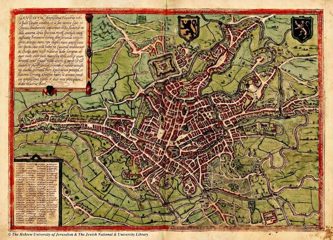 Georg Braun (1541-1622) - Ghent, map (c.1572)