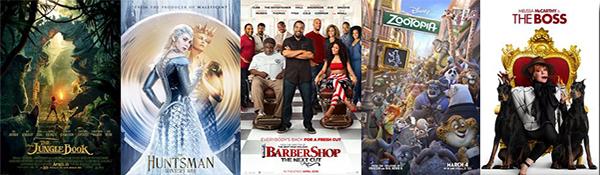 Box office: 2016.04.25 The Jungle Book