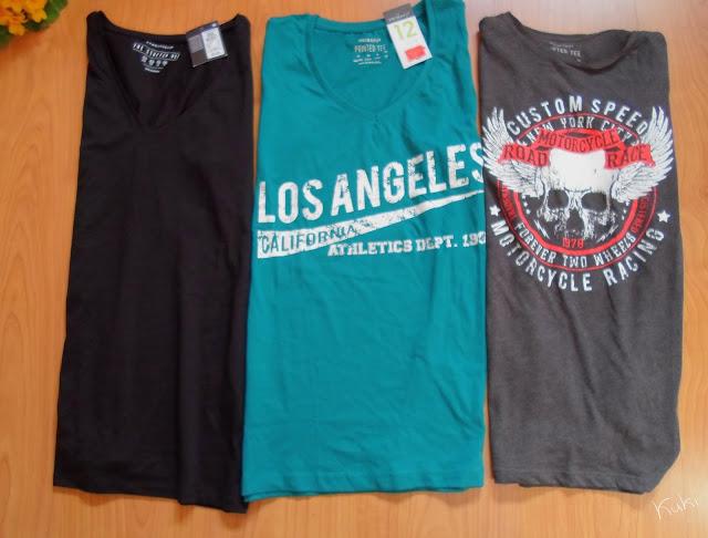 Compras t-shirts, Primark