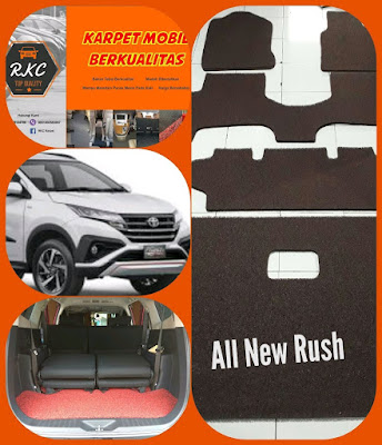 Karpet Mobil All New Rush 2018 Full Bagasi Type Platinum
