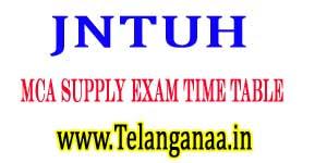 JNTUH MCA Supply Exam Time Table