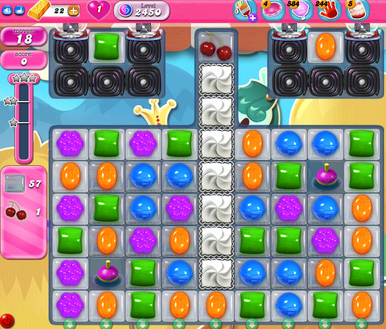 Candy Crush Saga level 2450
