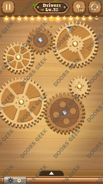 Fix it: Gear Puzzle [Drivers] Level 32 Solution, Cheats, Walkthrough for Android, iPhone, iPad and iPod