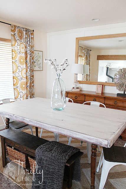 Farmhouse dining room makeover. Dining room updates done in one day in under 5 hours. Fixer upper style dining room decor and decorating ideas
