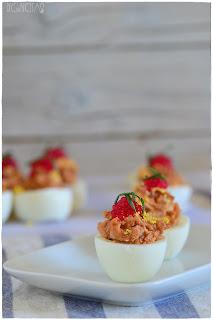 Huevos rellenos de atún- Huevos rellenos thermomix- Huevos rellenos rebozados- Huevos rellenos receta fría