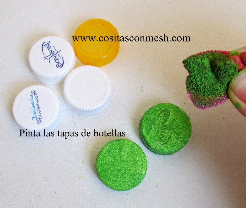 reciclar-tapas-navidad-arbolito