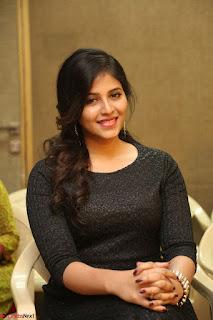 Anjali in Black Short Dress at Chitrangada Movie Success Meet ~  013.JPG