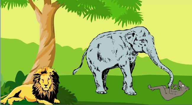 lion and jackal story jatak kahaniyan, Jatak tales of Lion and Jackal