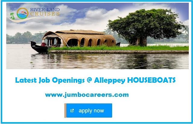 Job Openings in Leading Houseboats Kerala