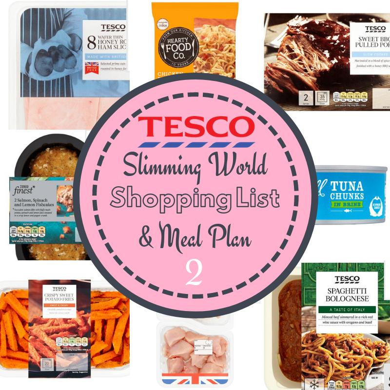 Tesco Budget Slimming World Meal Plan Sugar Pink Food