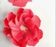 Cara Membuat Bunga Dari Kertas Krep