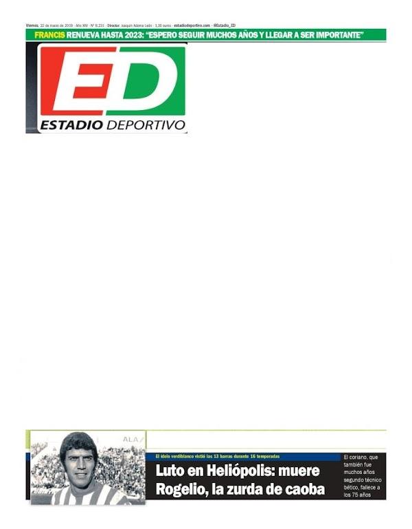 """Betis, Estadio Deportivo: """"Francis renueva hasta 2023"""""""