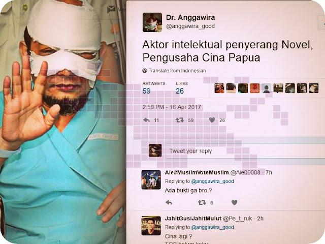 Aktor Intelektual Penyerang Novel Baswedan Diduga Pengusaha Berdarah Tionghoa- Papua