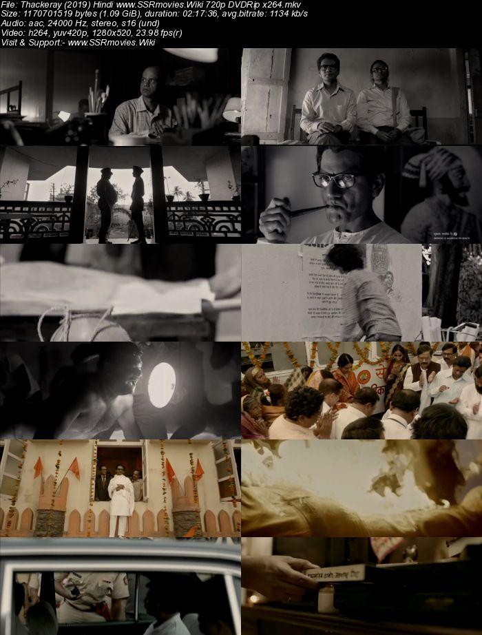 Thackeray (2019) Hindi 720p DVDRip x264 1.1GB Movie Download