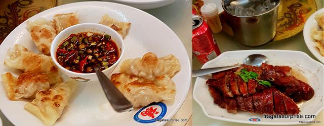 Pratos do restaurante chinês Chi Fu, na Liberdade