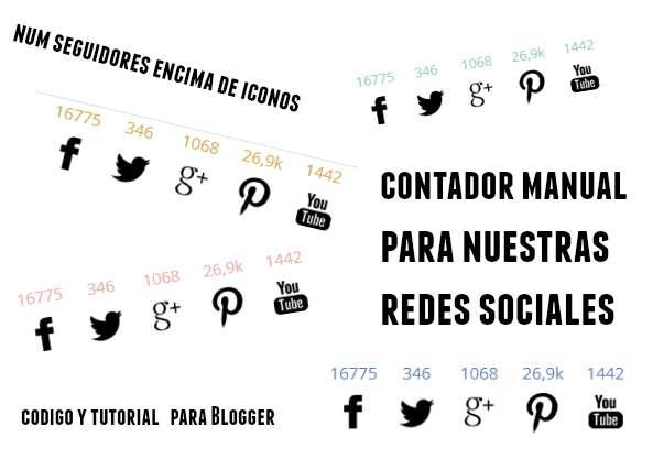 Redes sociales con numero de seguidores