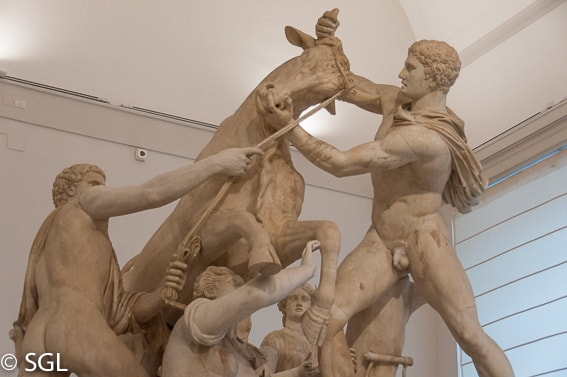 Museo arqueologico de Napoles. Toro Farnesio. Coleccion farnesia