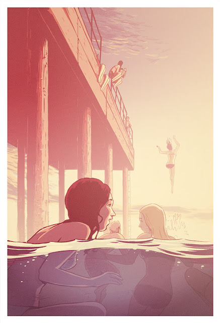 The Pier (2013) by Guy Shield | ilustraciones imaginativas, sentimientos y emociones, imagenes bonitas, nostalgicas, illustration art, cool stuff.
