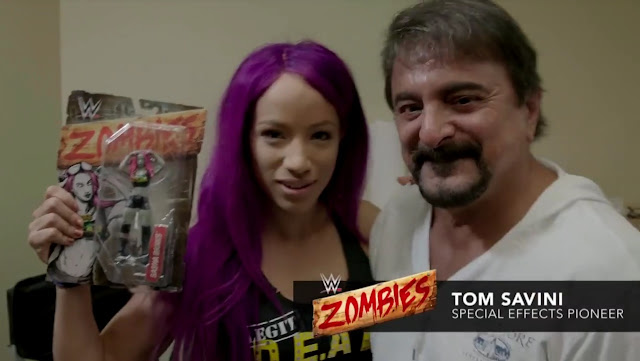 Sasha Banks e Tom Savini