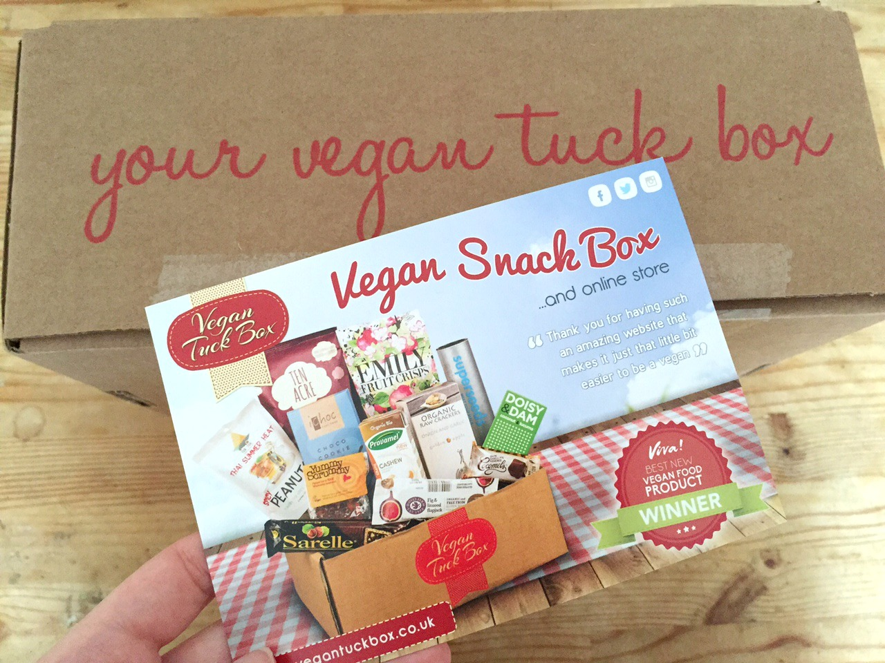 Vegan Tuck Box review