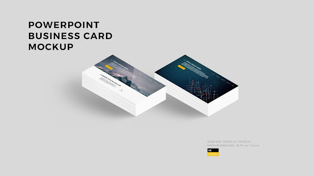 Free PowerPoint Layout Mockup with Business card Style 2 (Background)