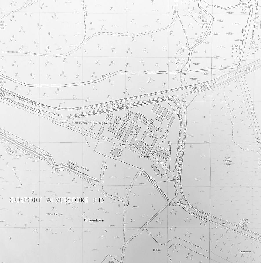 Plan of Browndown Camp and Railway