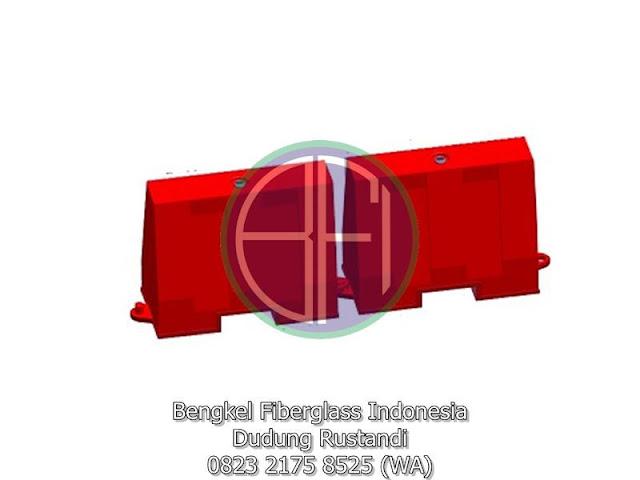 gambar desain fiberglass road barriers