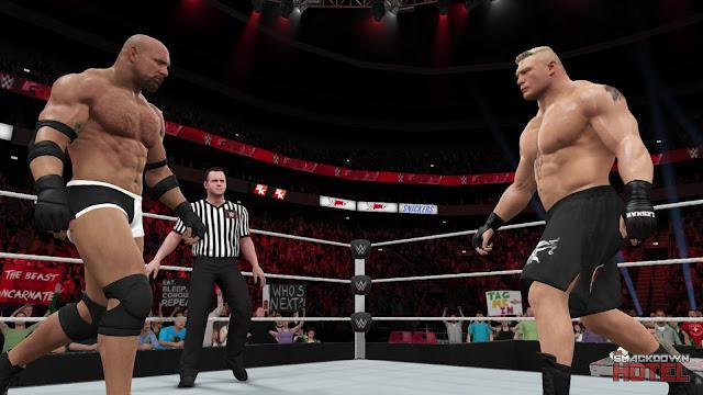 WWE2K17-Goldberg-Lesnar-Staredown