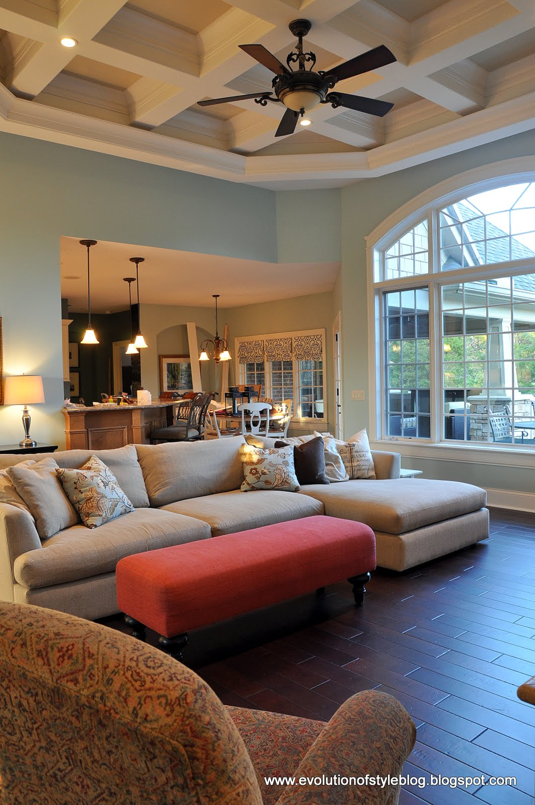 Our paint colors evolution of style - Benjamin moore palladian blue living room ...