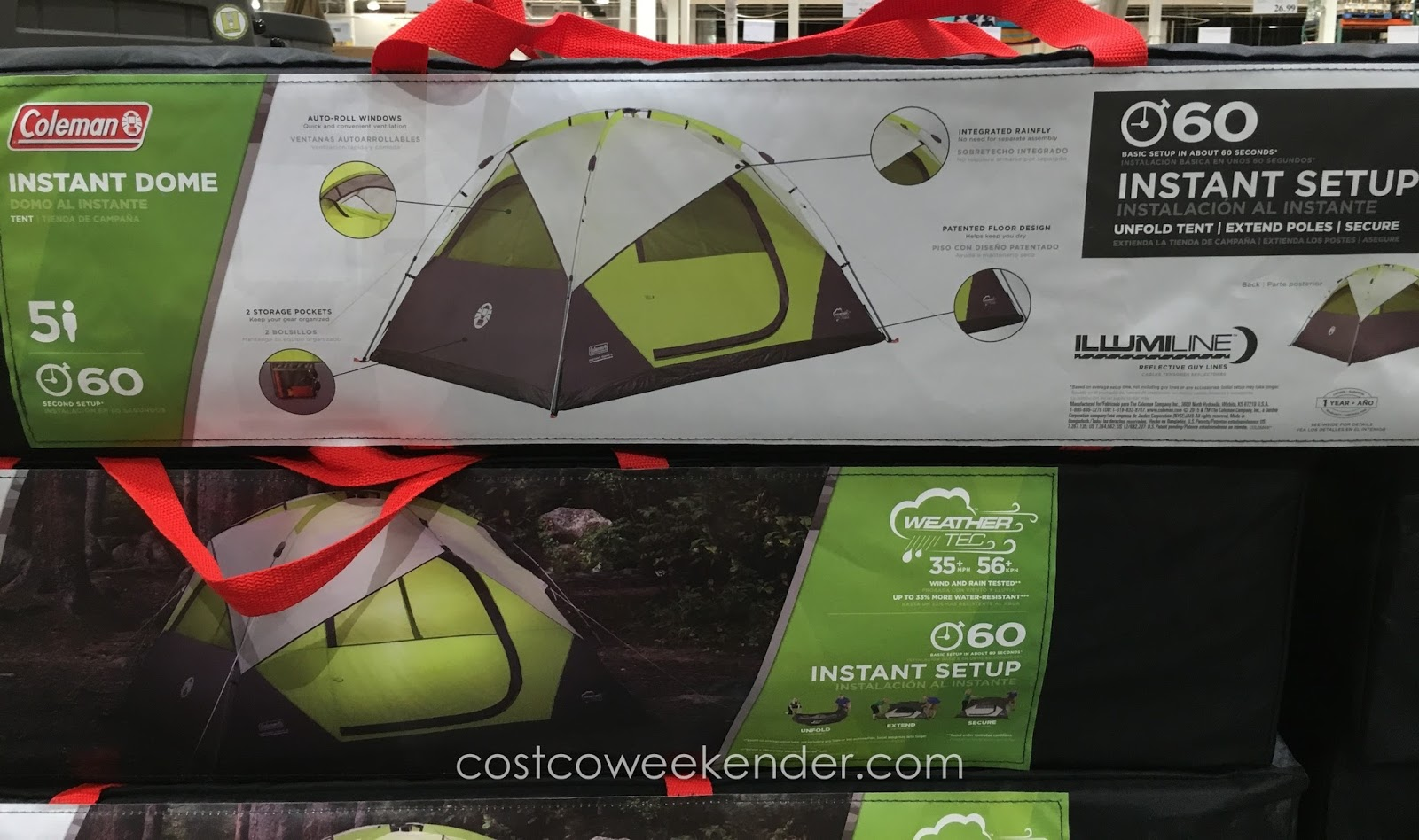 Coleman 5-Person Instant Dome Tent   Costco Weekender