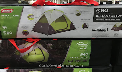 Roughing it is more manageable with the Coleman 5-Person Instant Dome Tent