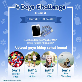 Lomba Foto 4 Days Challenge BiarFit.com Hadiah Ipad