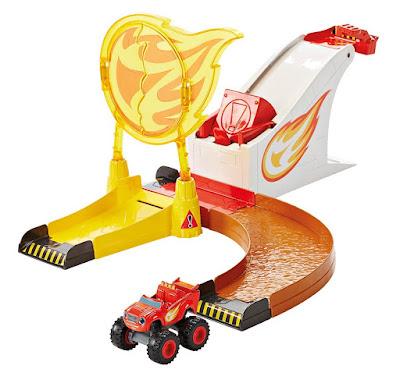 TOYS : JUGUETES  BLAZE Y LOS MONSTER MACHINES - Aro de fuego  Fisher-Price - Flaming Stunts Blaze  Mattel DGK55 | Serie Televisión Nickelodeon - Clan | A partir de 3 años  Comprar en Amazon España & buy Amazon USA