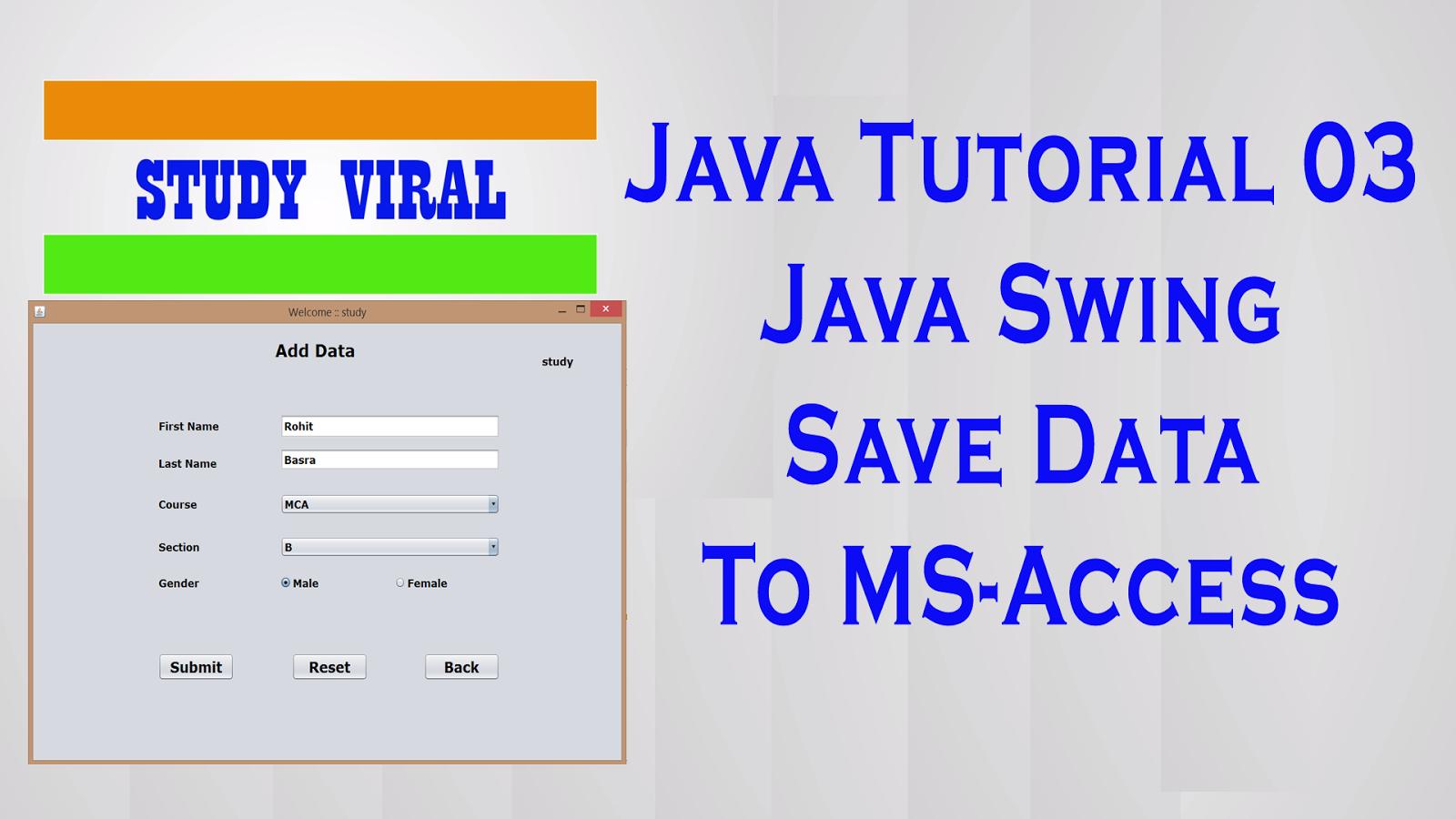 Java Swing Save Data To MS Access using Ucanaccess - 03