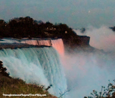 Niagara Falls - Waterfall in New York at Night