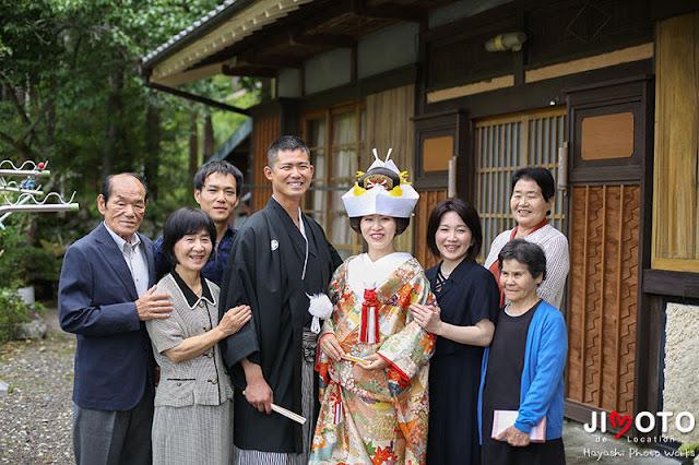 三重県熊野市の実家でのお仕度と挙式撮影
