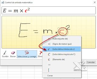 Insertar una ecuación en Excel