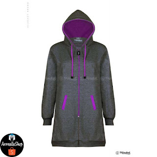 HJ23 Hijacket BASIC Misty x Purple JAKET HIJAB JAKET MUSLIMAH ORIGINAL PREMIUM FLEECE