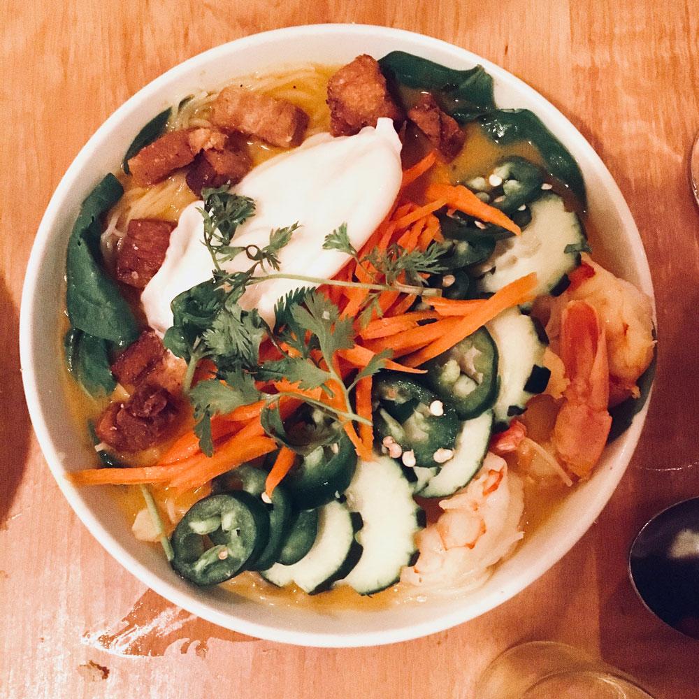 noodle bowl at la boca in santa fe