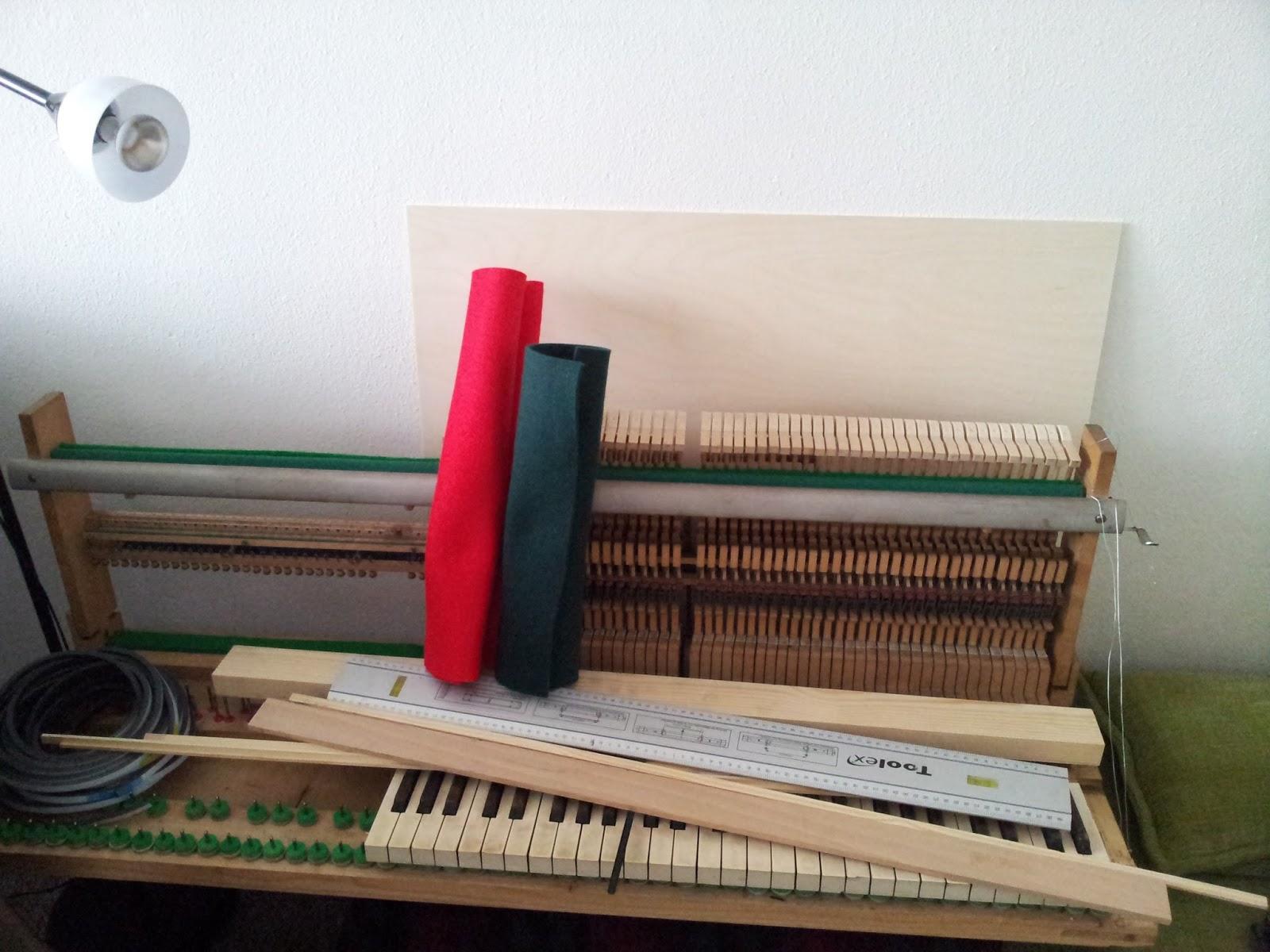 Homemade Celesta: 1.5 Zusammenbau Klangröhren + Mechanik | Assemble
